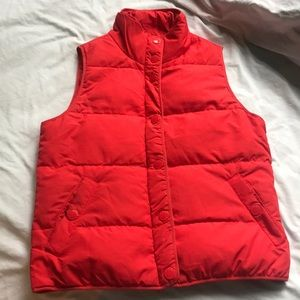 J Crew red size XS puffy vest